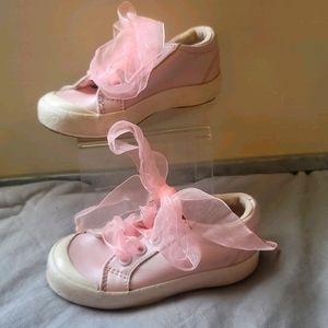 """Pink Pearl """"Melody Lace"""" Leather Keds Sz. 7.5"""